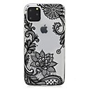voordelige iPhone 5c hoesjes-hoesje Voor Apple iPhone 11 / iPhone 11 Pro / iPhone 11 Pro Max Ultradun / Transparant / Patroon Achterkant Bloem TPU