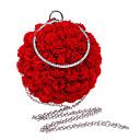 olcso Egyéb kerékpár kiegészítők-Női Virág Poliészter Estélyi táska Tömör szín Arcpír rózsaszín / Rubin