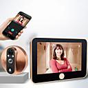 رخيصةأون أنظمة انترفون الباب-M20 200W ذكي القط الإلكترونية العين الجرس الجرس اللاسلكي فيديو جرس الباب الداخلي 4.3