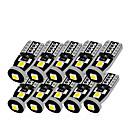 ราคาถูก ไฟภายในรถยนต์-10 ชิ้น t10 led สีขาว 3smd 5050 นำแสงรถยนต์ w5w 194 168 c an bus ข้อผิดพลาดหลอดไฟ 12 โวลต์ลิ่มโคมไฟเลี้ยววงแสงถอดรหัสสัญญาณเข้าสู่ระบบ
