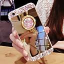Недорогие Чехлы и кейсы для Galaxy Note 8-чехол для samsung galaxy s9 / s9 plus / s8 plus / s105g / s10plus / s10 горный хрусталь / держатель кольца / задняя крышка зеркала однотонная тпу