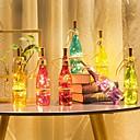 ieftine Fâșii Becurie LED-loende barisc lumini sticla de vin cu plută led zâne luminoase baterie 2m 20 leduri argint sârmă de cupru impermeabil