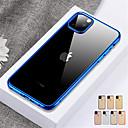 رخيصةأون أغطية أيفون-غطاء من أجل Apple اي فون 11 / iPhone 11 Pro / iPhone 11 Pro Max ضد الصدمات / شبه شفّاف غطاء خلفي لون سادة TPU