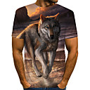 povoljno Muške jakne-Majica s rukavima Muškarci - Ulični šik / pretjeran Dnevno / Izlasci Geometrijski oblici / 3D / Životinja Drapirano / Print Duga