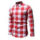 povoljno Muške košulje-Majica Muškarci Dnevno Karirani uzorak Red
