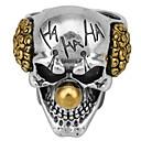 رخيصةأون خواتم-رجالي خاتم 1PC ذهبي سبيكة غير منتظم عتيق شائع عرقي مناسب للبس اليومي مجوهرات فينتاج مهرج جمجمة