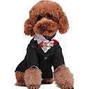 رخيصةأون ملابس وإكسسوارات الكلاب-كلب المعاطف سترة الشتاء ملابس الكلاب أسود أبيض أزرق داكن كوستيوم تيريليني قطن XS S M L XL