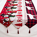 povoljno Ukrasne naljepnice-posteljina božićni elk snjegović stolni privjesak veseli božićni ukrasi za dom xmas ukrasi za 2019. godinu