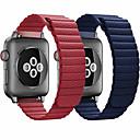 voordelige Apple Watch-bandjes-lederen riem voor Apple horlogeband 44 mm 40 mm 42 mm 38 mm lederen magnetische lus armband iwatch 5 4 3 2 accessoires