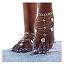 ieftine Bijuterii de Corp-Pentru femei Brățară Gleznă Sandale Desculț picioare bijuterii Multistratificat stivuibil femei Personalizat Design Unic European Bikini Argintiu Brățară Gleznă Bijuterii Glod / Argintiu Pentru