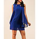 رخيصةأون ربطات العقدة-فستان نسائي ثوب ضيق قصير جداً لون سادة