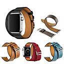 رخيصةأون أساور ساعات هواتف أبل-جلد طبيعي حزام حزام جولة مزدوجة لسلسلة أبل ووتش 5 4 3 2 1