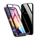 رخيصةأون حافظات / جرابات هواتف جالكسي A-غطاء من أجل Samsung Galaxy S9 / S9 Plus / S8 Plus ضد الصدمات / مغناطيس غطاء خلفي لون سادة زجاج مقوى / معدن