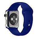 voordelige Apple Watch-bandjes-zachte siliconen sportband voor Apple Watch-serie 5 4 3 2 1 voor iwatch-band 42 mm 38 mm 40 mm 44 mm polsband armband