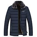 povoljno Men's Winter Coats-Muškarci Jednobojni Padded, Poliester Crn / Vojska Green / Plava US32 / UK32 / EU40 / US34 / UK34 / EU42