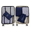 ieftine Audio & Video-6 seturi Geantă Călătorie / Organizator de călătorii / Organizator Bagaj de Călătorie Capacitate Înaltă / Impermeabil / Portabil Haine Material net Călătorie / Durabil / Fermoar cu două fețe