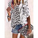 ieftine Cercei-Pentru femei Bluză Leopard Negru / În V