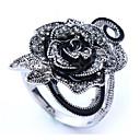 ieftine Inele-Pentru femei Inel 1 buc Argintiu Crom Diamante Artificiale Rotund Stilat Cadou Zilnic Bijuterii Clasic Floare Cool