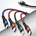 ieftine Câini Gulere, hamuri și Curelușe-cablu rock tip-c 1.0m (3ft) încărcare rapidă PVC pvc (policlorură de vinil) adaptor pentru cablu USB pentru samsung / huawei / xiaomi