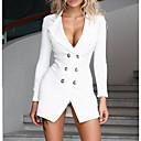 رخيصةأون قلادات-فستان نسائي ثوب ضيق أساسي فوق الركبة لون سادة