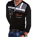 povoljno Muški džemperi i kardigani-Majica s rukavima Muškarci Slovo V izrez Slim Crn