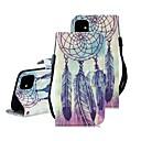 رخيصةأون أغطية أيفون-غطاء من أجل Apple اي فون 11 / iPhone 11 Pro / iPhone 11 Pro Max محفظة / حامل البطاقات / مع حامل غطاء كامل للجسم الريش جلد PU