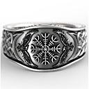 preiswerte Ringe Herren-Herrn Ring 1pc Silber Geometrische Form Retro Alltag Festtage Schmuck Geometrisch Blume Cool
