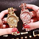 ieftine Brățări-Pentru femei Ceasuri de lux Diamond Watch ceas de aur Japoneză Quartz Oțel inoxidabil Argint / Auriu / Roz auriu Analog femei Charm Modă Bling bling - Roz auriu Auriu Argintiu