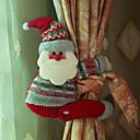 رخيصةأون تزيين المنزل-جميلة الكرتون دمية الستار مشبك سانتا كلوز ثلج الأيائل ستارة على شكل موقف الديكور