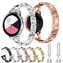 voordelige Horlogebandjes voor Samsung-sieraden diamanten horlogeband voor Samsung Galaxy Watch Active 2 / Galaxy Watch 42 mm / Gear S2 Classic / Gear Sport vervangbare roestvrij stalen armband polsband polsband