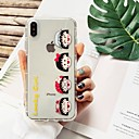 رخيصةأون أغطية أيفون-غطاء من أجل Apple iPhone XS / iPhone XR / iPhone XS Max ضد الصدمات / نحيف جداً / نموذج غطاء خلفي جملة / كلمة / كارتون TPU