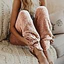 povoljno Ukrasne naljepnice-Žene Osnovni Chinos Hlače - Jednobojni Blushing Pink Fuksija Plava S M L