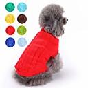 ieftine Imbracaminte & Accesorii Căței-Pisici Câine Pulovere Iarnă Îmbrăcăminte Câini Maro Albastru Deschis Galben Costume Husky Labrador Bulldog Bumbac Mată Clasic Keep Warm XS S M L
