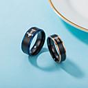 povoljno Prstenje-Par je Band Ring 2pcs Plava Titanij Statement Klasik Europska Vjenčanje Angažman Jewelry Slovo