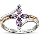povoljno Prstenje-Žene Prsten Kubični Zirconia 1pc Srebro Platinum Plated slatko Dnevno Jewelry