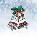 رخيصةأون بروشات-نسائي دبابيس 3D Bell موضة مطلية بالذهب بروش مجوهرات فضي من أجل عيد الميلاد مناسب للحفلات مهرجان