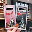 voordelige iPhone-hoesjes-hoesje Voor Samsung Galaxy S9 / S9 Plus / S8 Plus Stromende vloeistof / Transparant / Patroon Achterkant Kerstmis TPU
