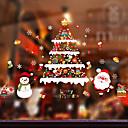 رخيصةأون الستائر-فيلم نافذة وملصقات زخرفة منقوشة / عيد الميلاد عطلة / شخصية PVC ملصق النافذة / ملصق الباب / محبوب