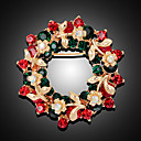 povoljno Broševi-Žene Broševi 3D Cvijet Moda Pozlaćeni Broš Jewelry Duga Za Božić Party Festival