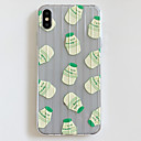 رخيصةأون أغطية أيفون-غطاء من أجل Apple iPhone XS / iPhone XR / iPhone XS Max نحيف جداً / نموذج غطاء خلفي مأكولات / شفاف / كارتون TPU
