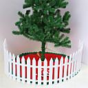 رخيصةأون ملصقات ديكور-حزمة من البلاستيك الأبيض السياج فناء داخلي بالقرب من زهرة الروضة الصغيرة حديقة سياج عيد الميلاد الديكور