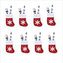 رخيصةأون ملصقات ديكور-6PCS عيد الميلاد الجوارب والسكاكين صينية الجوارب قليلا