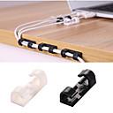 ieftine Gadget Baie-20pcs cablu înfășurare clip încarcător încărcător fermă birou cablu de fir căști telefon linie fixator organizator auto suport de clemă
