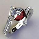 povoljno Prstenje-Žene Prilagodljivi prsten Kubični Zirconia 1pc Srebro Platinum Plated Jedinstven dizajn Europska pomodan Dar Dnevno Jewelry Cvjetni Tema Slatko