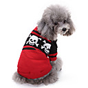 رخيصةأون ملابس وإكسسوارات الكلاب-كلاب البلوزات الشتاء ملابس الكلاب أحمر كوستيوم فصيل كورجي كلب صيد شبعا اينو الاكريليك وألياف جماجم كاجوال / يومي Halloween XXS XS S M L XL