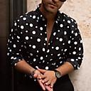 رخيصةأون ربطات العقدة-رجالي مقاس أوروبي / أمريكي قميص, منقط / كم طويل