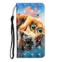 voordelige Galaxy S7 Hoesjes / covers-hoesje Voor Samsung Galaxy S9 / S9 Plus / S8 Plus Portemonnee / Kaarthouder / Schokbestendig Volledig hoesje dier PU-nahka