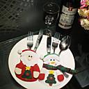 رخيصةأون تزيين المنزل-مل 3pcs المنتجات عيد الميلاد سانتا كلوز الجدول حقيبة أدوات المائدة نمط عشوائي