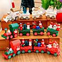 رخيصةأون ديكورات خشب-1 قطع عيد الميلاد ألعاب خشبية قطار هدية مبتكرة لعب الصبي الأطفال diecasts والمركبات لعبة