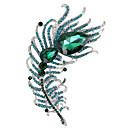 ieftine Cercei-Bărbați Pentru femei Cristal Broșe Lung Pană Desen animat La modă Casual / sportiv Boho inox Broșă Bijuterii Negru Verde Albastru Pentru Petrecere Cadou Stradă Muncă Festival